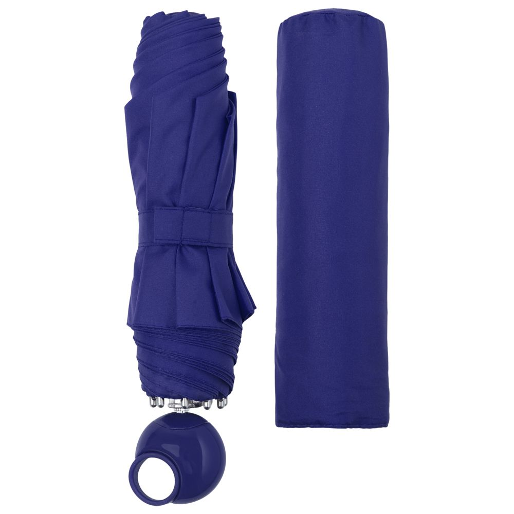 Зонт складной Floyd с кольцом, синий